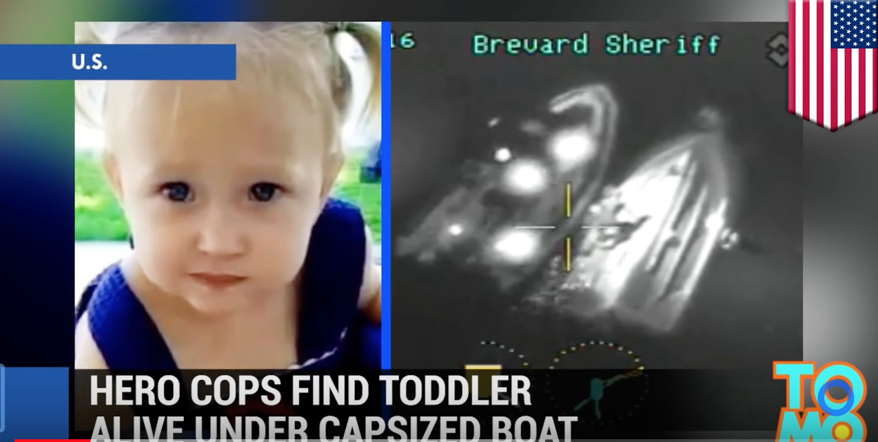 image of toddler who was rescued