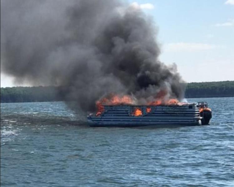 image of pontoon fire